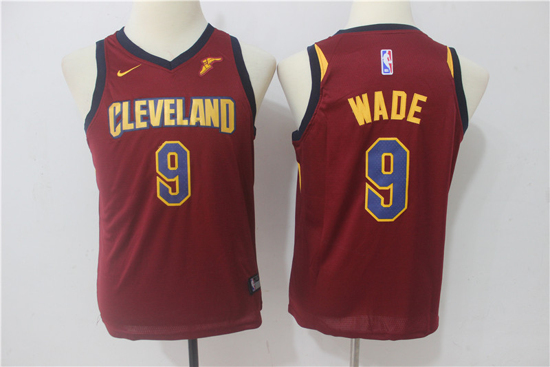 Youth Cleveland Cavaliers 9 Wade Red Game Nike NBA Jerseys