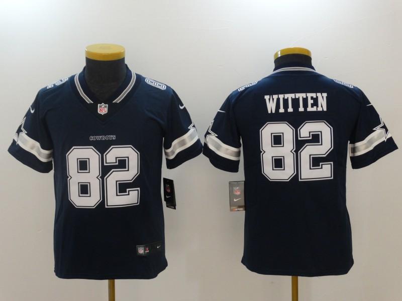 1e8b42c806e Youth Dallas cowboys 82 Witten Blue Nike Vapor Untouchable Limited NFL  Jerseys