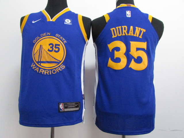 Youth Golden State Warriors 35 Durant Blue Nike NBA Jerseys