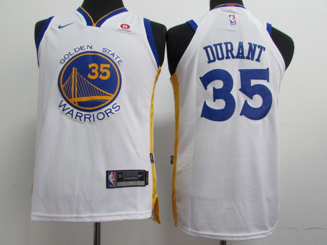 Youth Golden State Warriors 35 Durant White Nike NBA Jerseys
