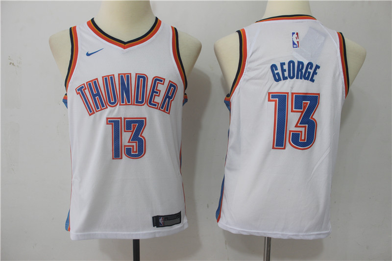 Youth Oklahoma City Thunder 13 George White Game Nike NBA Jerseys