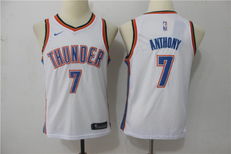 Youth Oklahoma City Thunder 7 Anthony White Game Nike NBA Jerseys