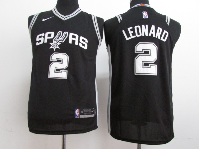 Youth San Antonio Spurs 2 Leonard Black Nike NBA Jerseys