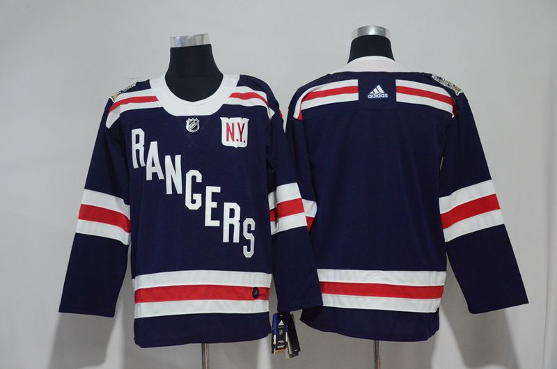 2017 Men NHL New York Rangers blank blue Adidas jersey