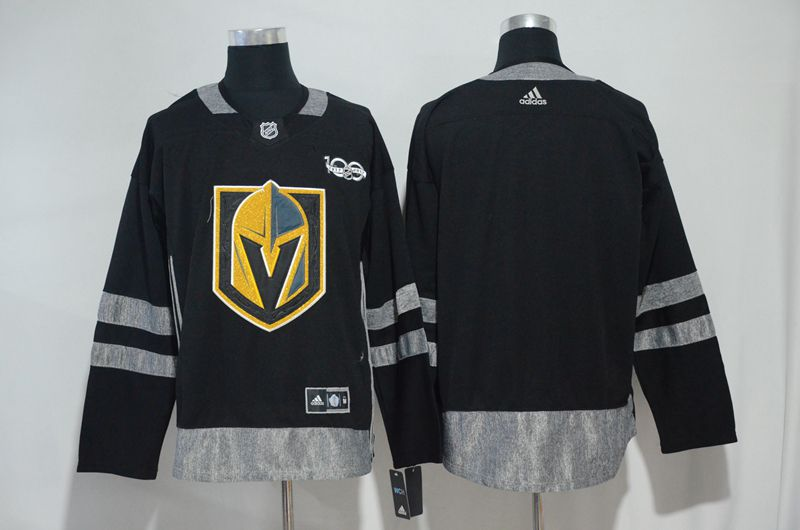 Men Vegas Golden Knights Fanatics Branded Breakaway Home Black Adidas Jersey