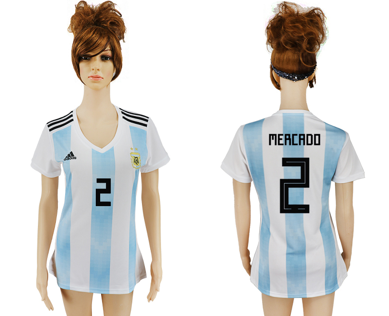 2018 World Cup Argentina home aaa version women 2 soccer jersey