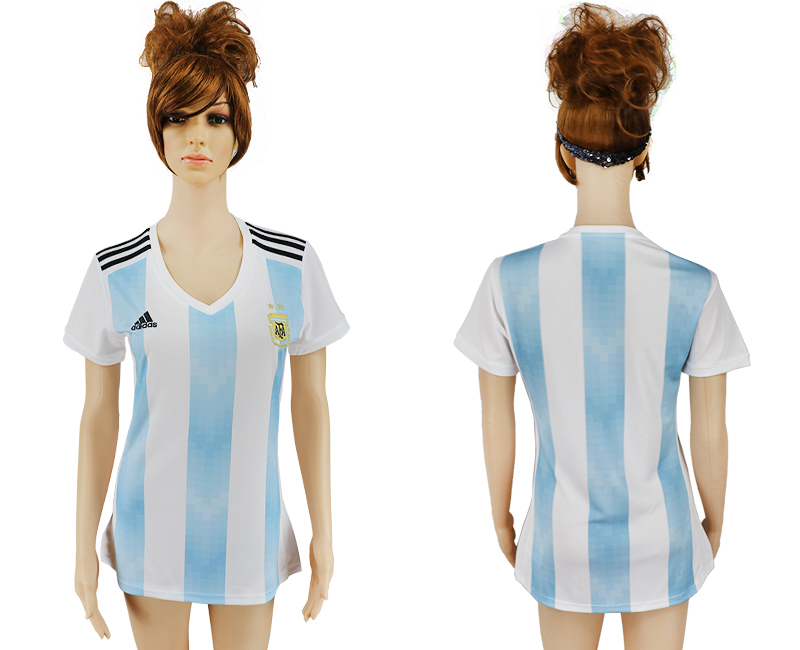 2018 World Cup Argentina home aaa version women soccer jersey