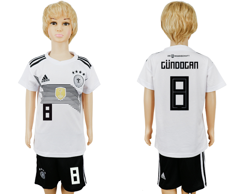 2018 World Cup Germany home kids 8 white soccer jersey1
