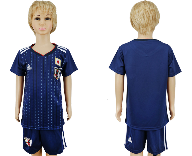 2018 World Cup Japan home kids blank blue soccer jersey