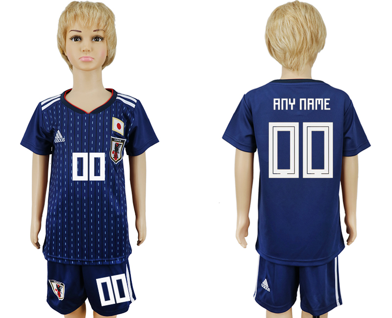 2018 World Cup Japan home kids customized blue soccer jersey