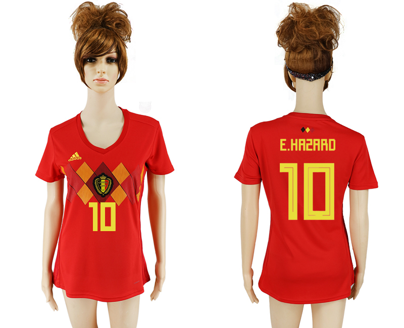 2018 World Cup National Belgium home aaa version women 10 soccer jersey