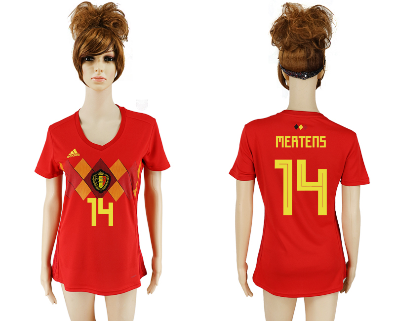 2018 World Cup National Belgium home aaa version women 14 soccer jersey