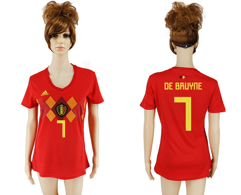 2018 World Cup National Belgium home aaa version women 7 soccer jersey