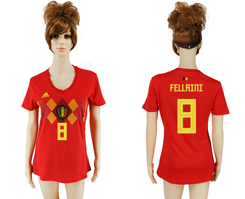 2018 World Cup National Belgium home aaa version women 8 soccer jersey