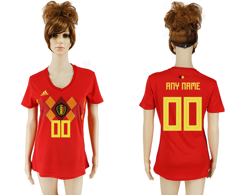 2018 World Cup National Belgium home aaa version women customized soccer jersey