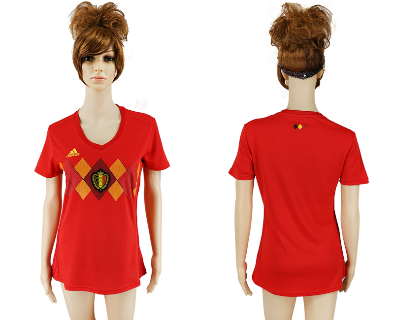 2018 World Cup National Belgium home aaa version women soccer jersey