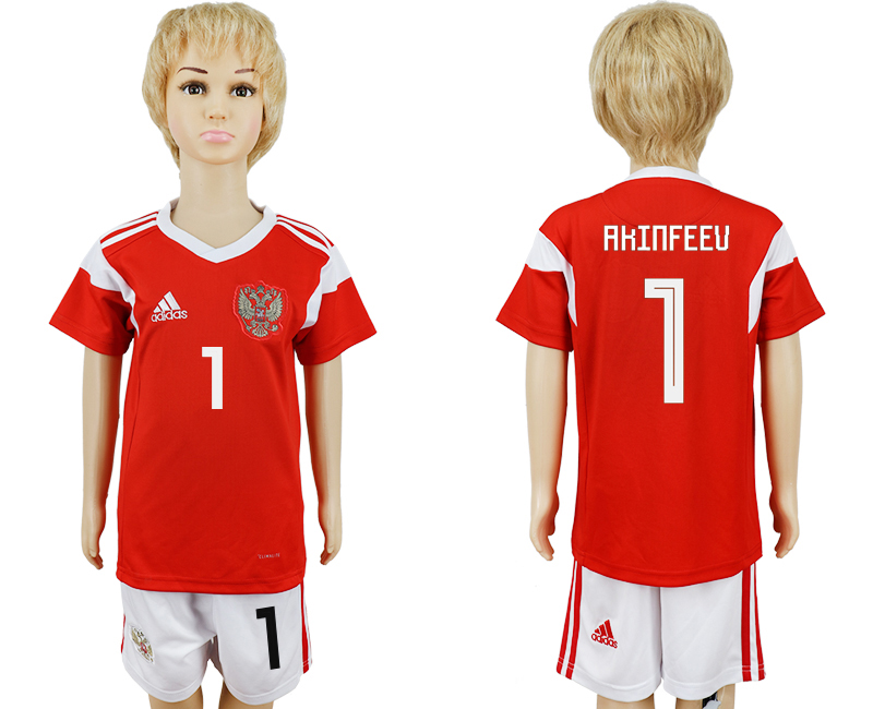 2018 World Cup Russia home kids 1 red soccer jersey
