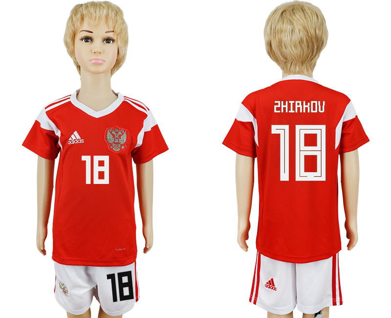 2018 World Cup Russia home kids 18 red soccer jersey