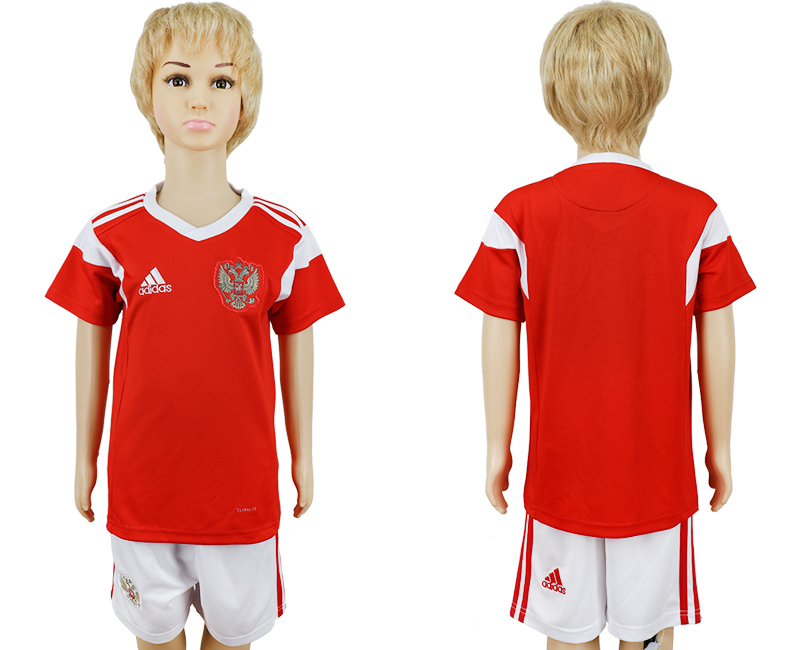 2018 World Cup Russia home kids blank red soccer jersey