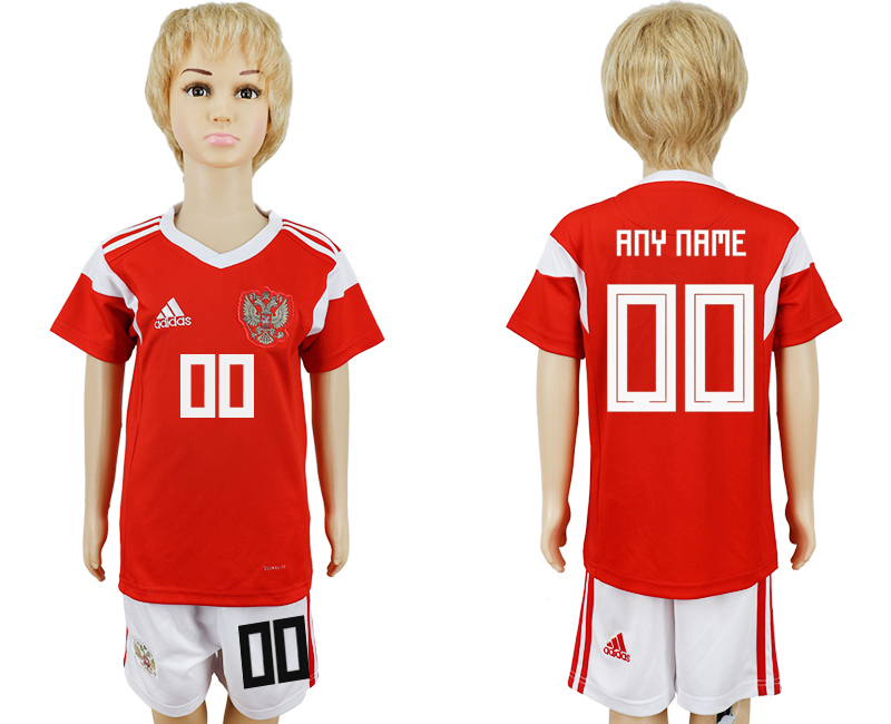2018 World Cup Russia home kids customized red soccer jersey