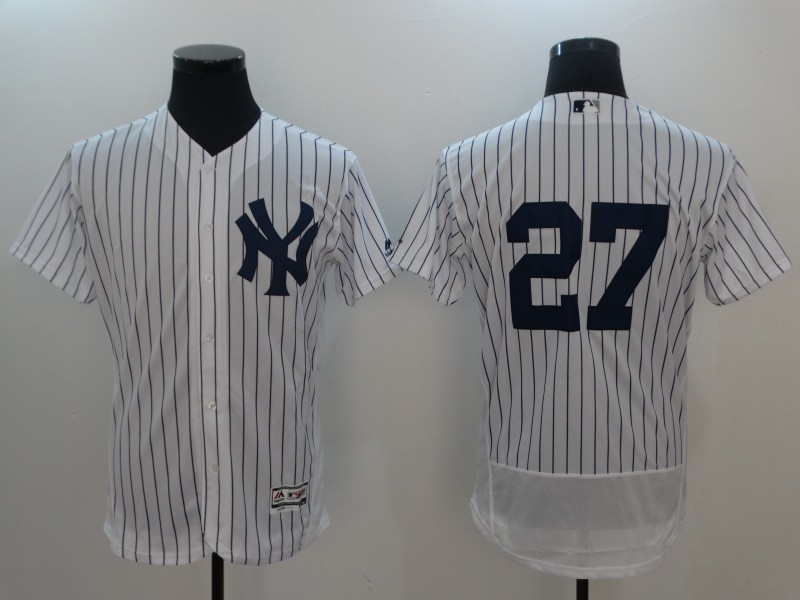 Men 2017 MLB New York Yankees 27 Stanton white no name jersey