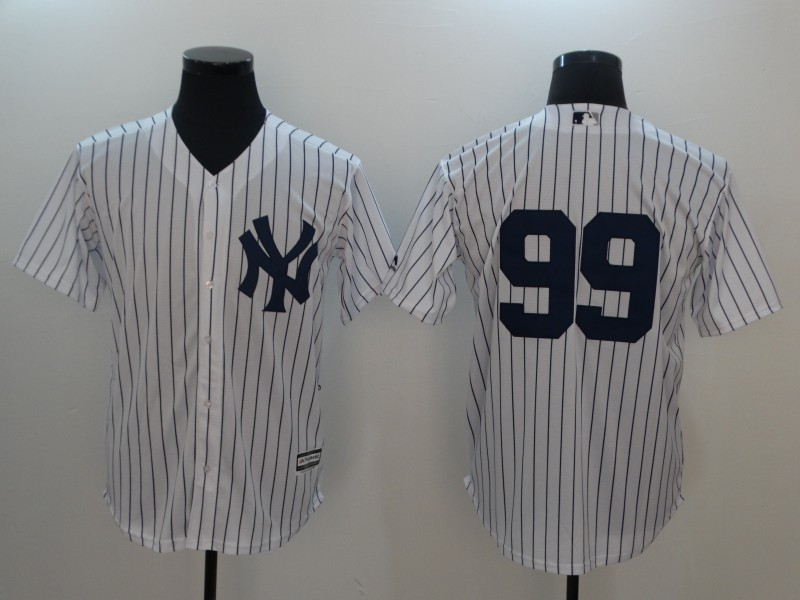 Men 2017 MLB New York Yankees 99 white no name jersey
