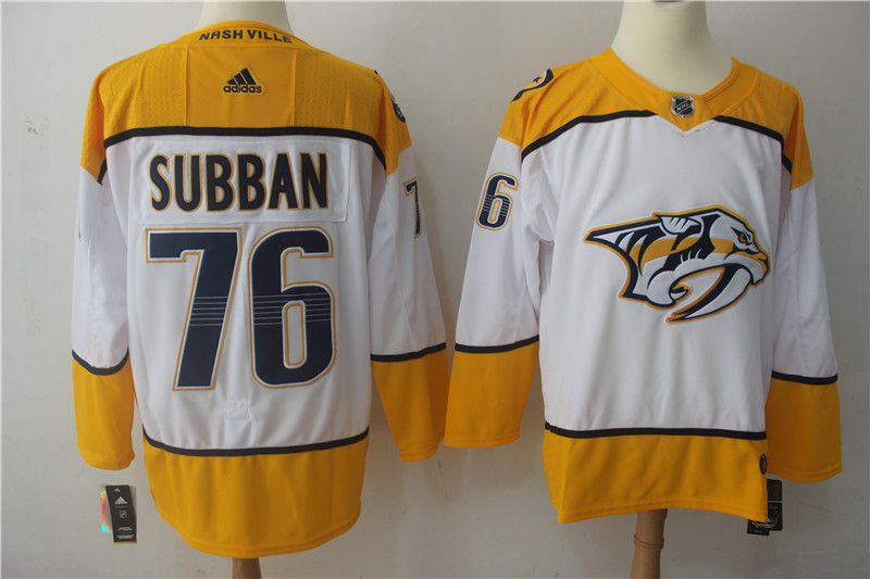 Men 2017 NHL Nashville Predators 76 Subban white Adidas Jerseys