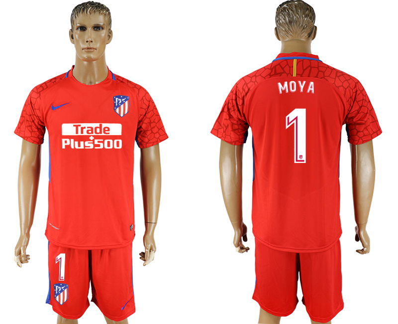 Men 2017-2018 club Atletico Madrid red goalkeeper 1 soccer jersey