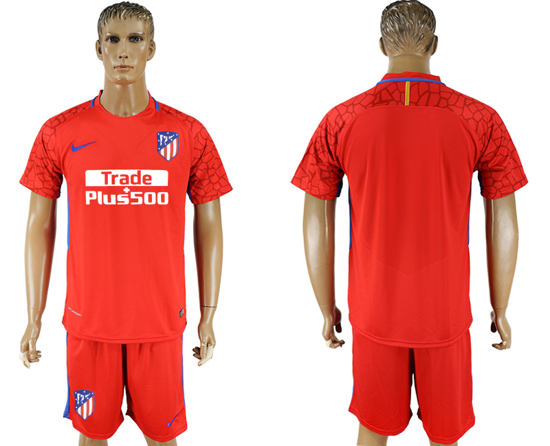 Men 2017-2018 club Atletico Madrid red goalkeeper soccer jersey