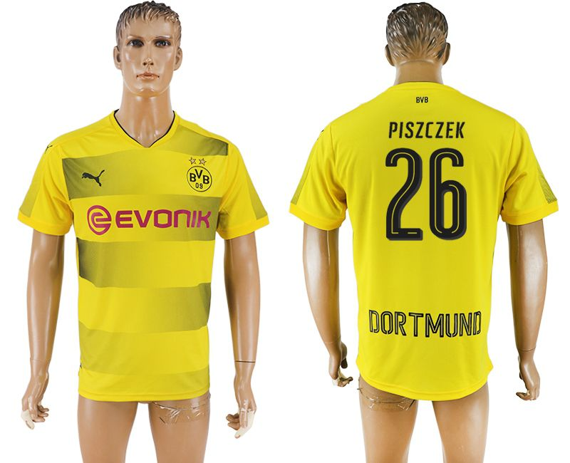 Men 2017-2018 club Borussia Dortmund home 26 yellow AAA soccer jersey