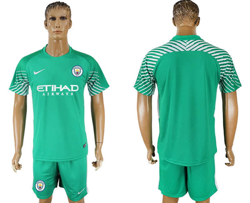 Men 2017-2018 club Manchester city green goalkeeper soccer jersey