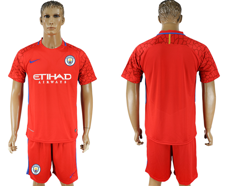 Men 2017-2018 club Manchester city red goalkeeper soccer jersey