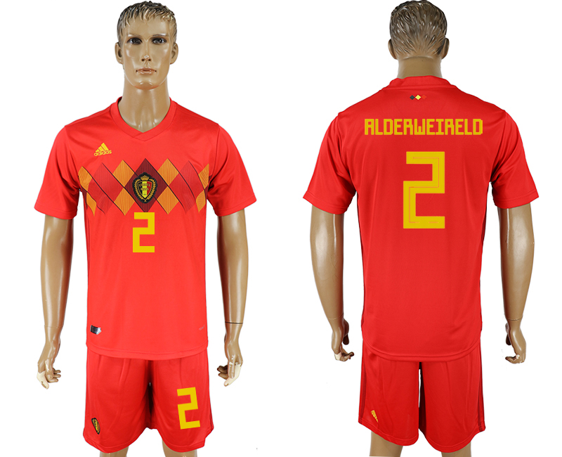 Men 2018 World Cup National Belgium home 2 red soccer jersey