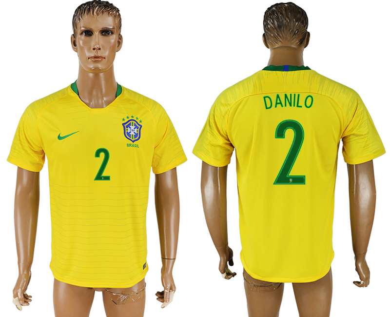 Men 2018 World Cup National Brazil home aaa version 2 soccer jersey