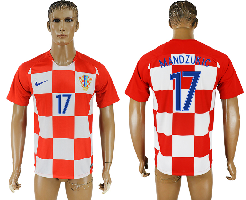 Men 2018 World Cup National Croatia home aaa version 17 soccer jersey