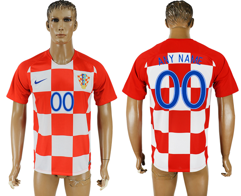 Men 2018 World Cup National Croatia home aaa version customized soccer jersey