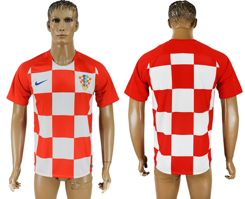 Men 2018 World Cup National Croatia home aaa version soccer jersey