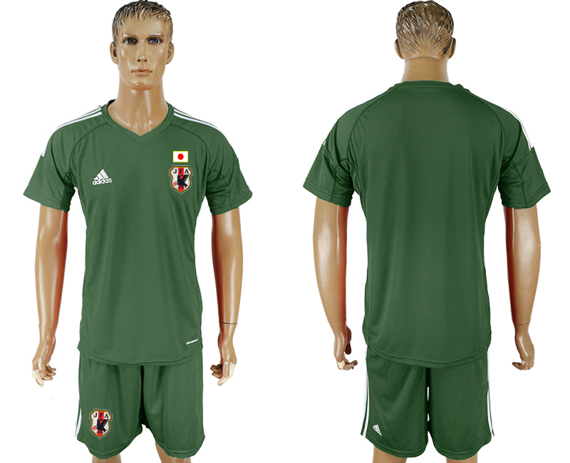 Men 2018 World Cup National Japan Military green goalkeeper soccer jersey