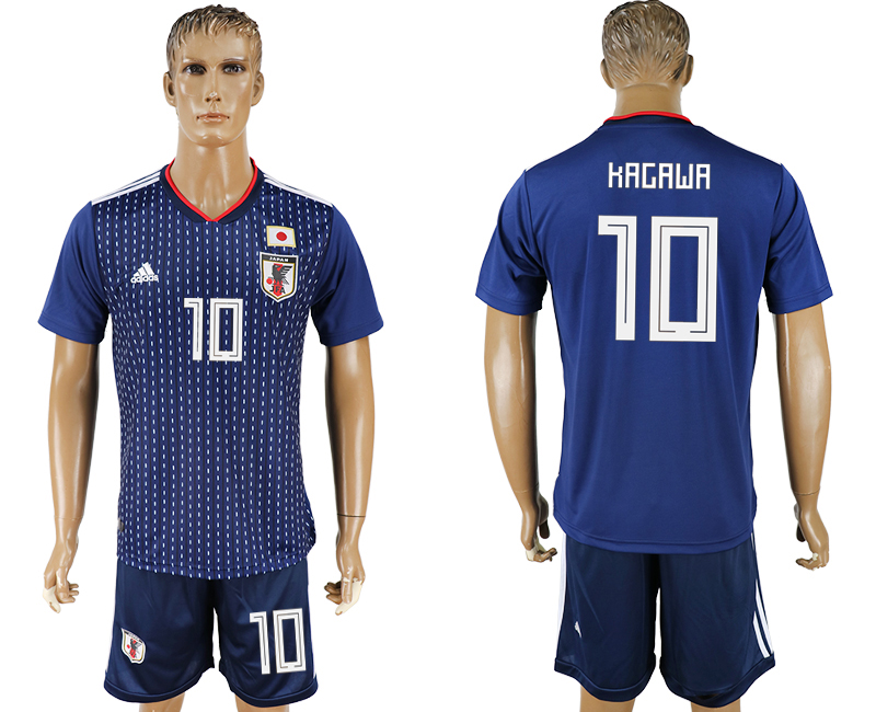 Hommes 2018 Coupe du Monde National Japon domicile 10 bleu football maillot