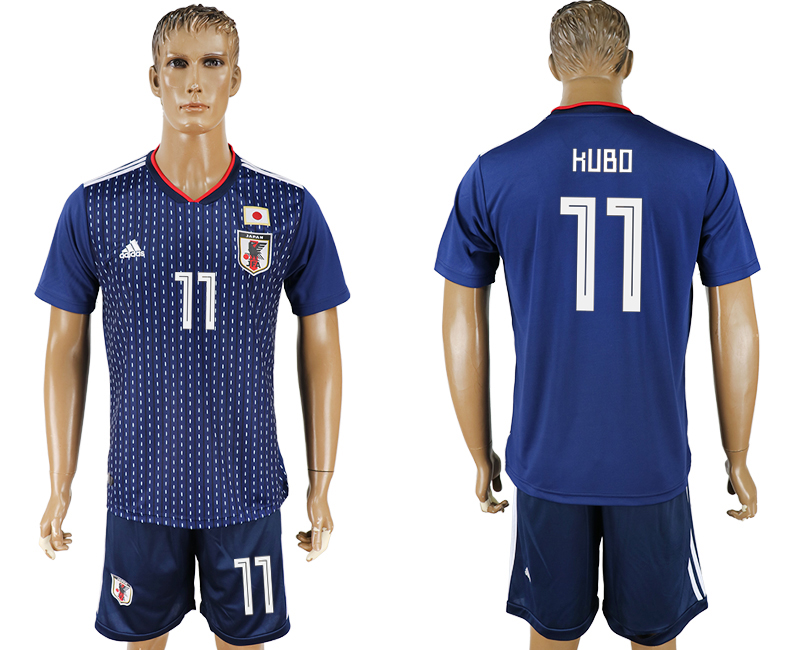 Men 2018 World Cup National Japan home 11 blue soccer jersey