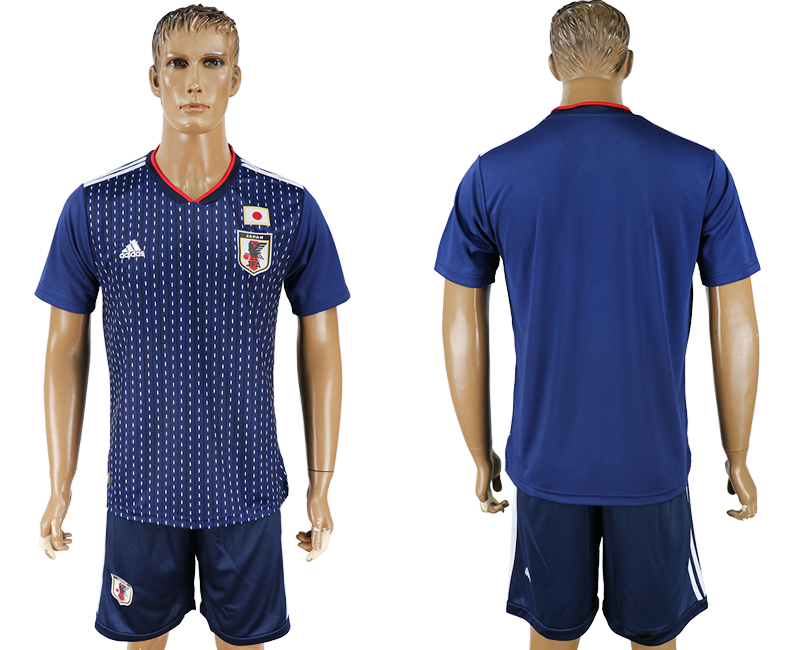 Men 2018 World Cup National Japan home blue soccer jersey
