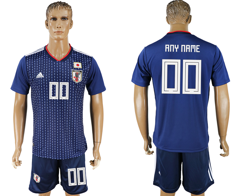 Men 2018 World Cup National Japan home customized blue soccer jersey