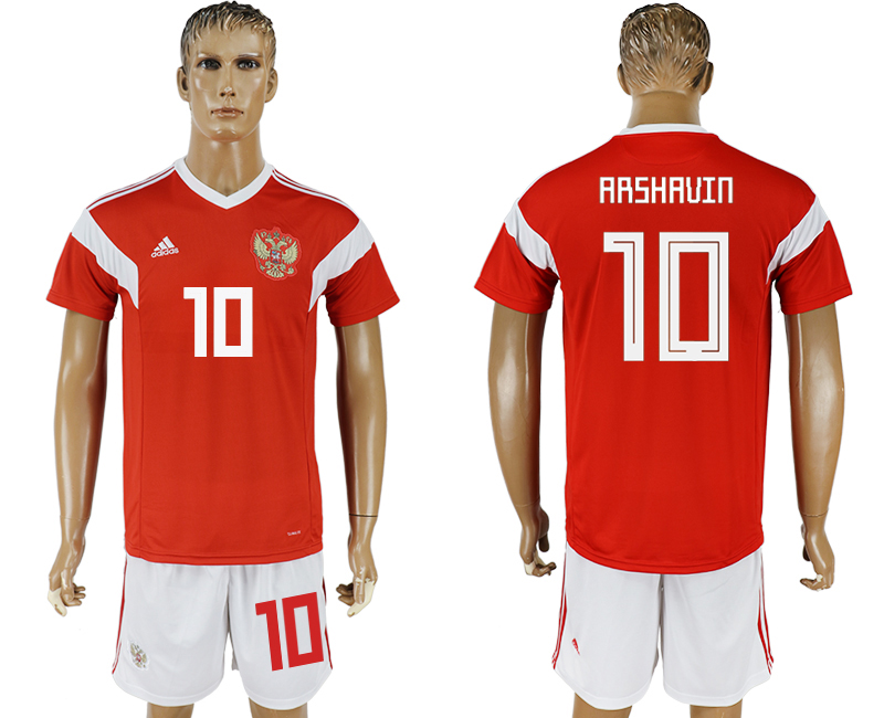 Men 2018 World Cup National Russia home 10 red soccer jersey