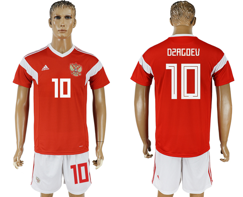 Men 2018 World Cup National Russia home 10 red soccer jersey1