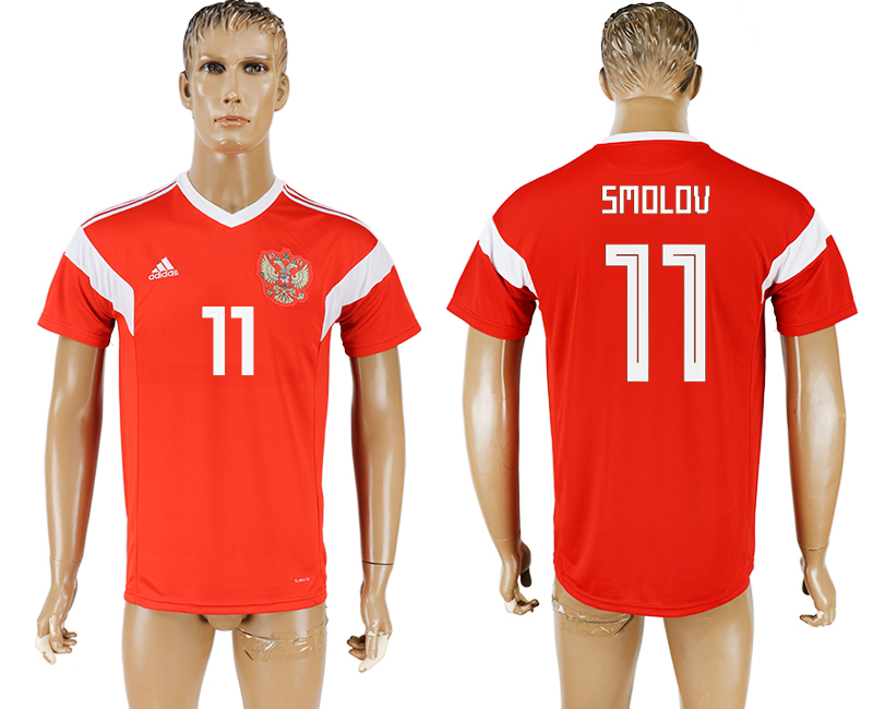 Men 2018 World Cup National Russia home aaa version 11 red soccer jersey