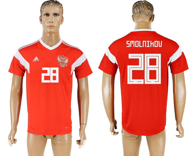 Men 2018 World Cup National Russia home aaa version 28 red soccer jersey
