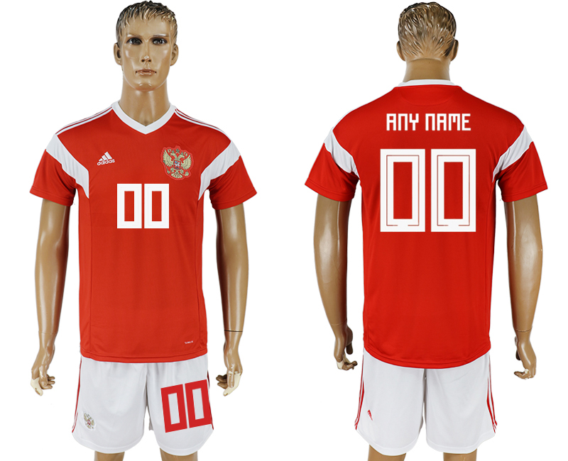 Men 2018 World Cup National Russia home customized red soccer jersey