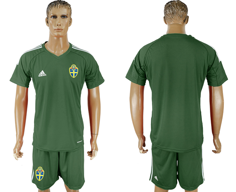Men 2018 World Cup National Swedish tarmac goalkeeper soccer jersey