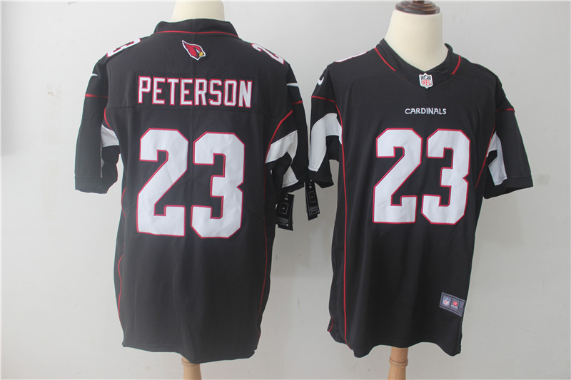 Men Arizona Cardinals 23 Peterson Black Nike Vapor Untouchable Limited NFL Jerseys