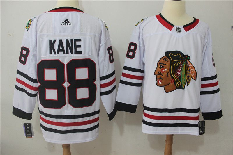Men Chicago Blackhawks 88 Kane white Adidas Stitched NHL Jerseys